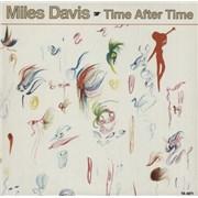 """Miles Davis Time After Time UK 12"""" vinyl"""