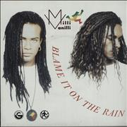 Click here for more info about 'Milli Vanilli - Blame It On The Rain - poster sleeve'