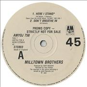Click here for more info about 'Milltown Brothers - Here I Stand'