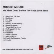 Click here for more info about 'Modest Mouse - We Were Dead Before The Ship Even Sunk'