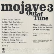 Mojave 3 Out Of Tune USA CD album Promo