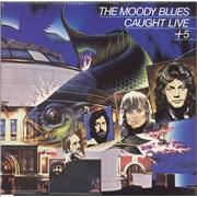 Moody Blues Caught Live + 5 USA 2-LP vinyl set