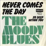 Click here for more info about 'Moody Blues - Never Comes The Day'
