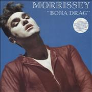 Morrissey Bona Drag - Stickered UK vinyl LP