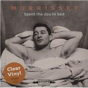 "Morrissey Spent The Day In Bed - Clear Vinyl UK 7"" vinyl"