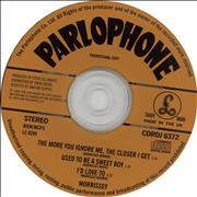Morrissey The More You Ignore Me, The Closer I Get UK CD single Promo