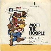 "Mott The Hoople Midnight Lady - In P/s UK 7"" vinyl"