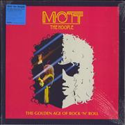 Mott The Hoople The Golden Age Of Rock 'N' Roll - Blue vinyl UK 2-LP vinyl set
