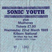 Click here for more info about 'Mudhoney - Set List + Ticket Stub'