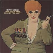 Click here for more info about 'Mungo Jerry - You Don't Have To Be In The Army - Red'