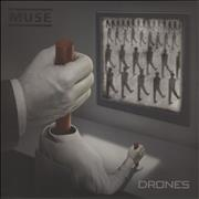 Muse Drones - 180 Gram Red Vinyl + CD & DVD UK 2-LP vinyl set