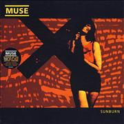 "Muse Sunburn - Clear Vinyl UK 7"" vinyl"