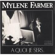 "Mylene Farmer A Quoi Je Sers... (Club Remix) - Orange Vinyl France 12"" vinyl"
