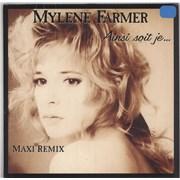 """Mylene Farmer Ainsi Soit Je... - Orange Vinyl - Sealed France 12"""" vinyl"""