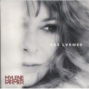 """Mylene Farmer Des Larmes - Sealed France 7"""" vinyl"""