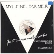 "Mylene Farmer Je T'Aime Mélancolie - Pink Vinyl - Sealed France 12"" vinyl"