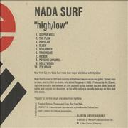Click here for more info about 'Nada Surf - High/Low'