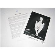 Nancy Wilson (Heart) Live At McCabe's Guitar Shop USA press pack Promo