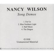 Nancy Wilson (Heart) Song Demos USA CD-R acetate Promo
