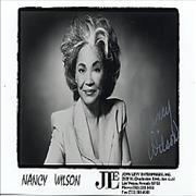 Click here for more info about 'Nancy Wilson (Jazz) - Autographed Publicity Photocard'