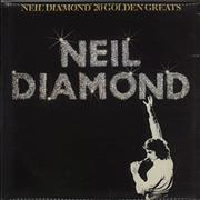 Click here for more info about 'Neil Diamond - 20 Golden Greats - Gold promo stamp'