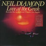 Click here for more info about 'Neil Diamond - Love At The Greek - stickered p/s'