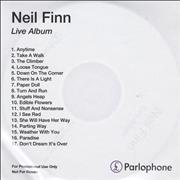 Click here for more info about 'Neil Finn - Live Album'