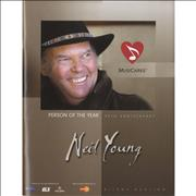 Click here for more info about 'Neil Young - 2010 MusiCares Person Of The Year + Auction Booklet & Invite'
