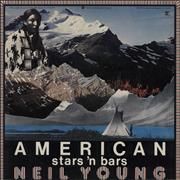 Neil Young American Stars 'N Bars - Stickered UK vinyl LP