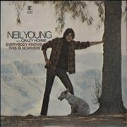 Neil Young Everybody Knows This Is Nowhere UK vinyl LP