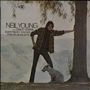 Neil Young Everybody Knows This Is Nowhere - 2nd - VG UK vinyl LP