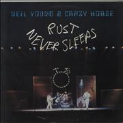 Neil Young Rust Never Sleeps - EX UK vinyl LP