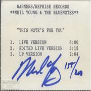 Click here for more info about 'Neil Young - This Note's For You - Autographed & Numbered'