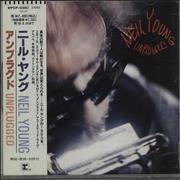 Neil Young Unplugged Japan CD album Promo