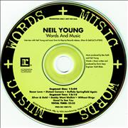 Click here for more info about 'Neil Young - Words & Music'