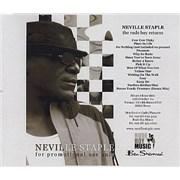 Neville Staple The Rude Boy Returns UK CD-R acetate Promo