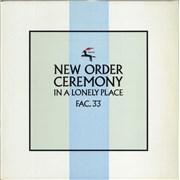 "New Order Ceremony - 2nd UK 12"" vinyl"