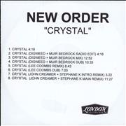 Click here for more info about 'New Order - Crystal'