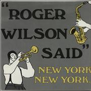 "New York New York Roger Wilson Said UK 7"" vinyl"