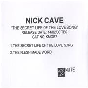 Click here for more info about 'Nick Cave - The Secret Life Of The Love Song'