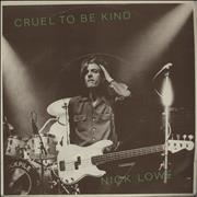 Click here for more info about 'Nick Lowe - Cruel To Be Kind - P/S'