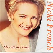 Click here for more info about 'Nicki French - For All We Know'