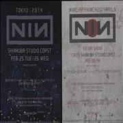 Click here for more info about 'Nine Inch Nails - Live In Tokyo 2014 - Two Handbills'