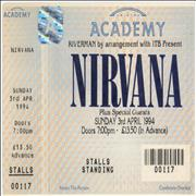 Click here for more info about 'Nirvana (US) - 3rd April 1994'
