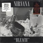 Click here for more info about 'Nirvana (US) - Bleach - Maroon & Black Vinyl'