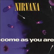 "Nirvana (US) Come As You Are UK 7"" vinyl"