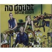 No Doubt Settle Down UK CD single Promo