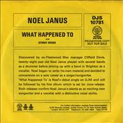 Click here for more info about 'Noel Janus - What Happened To - Promo Sleeve'