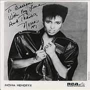Click here for more info about 'Nona Hendryx - Autographed Publicity Photograph'