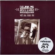 "The Notting Hillbillies Will You Miss Me UK 7"" vinyl"
